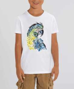 Papegaai Kinder T-shirt - 100 % Biologisch Katoen