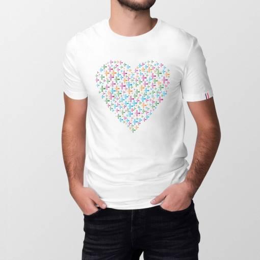 Cross My Heart Heren T-shirt - 100% biologisch katoen