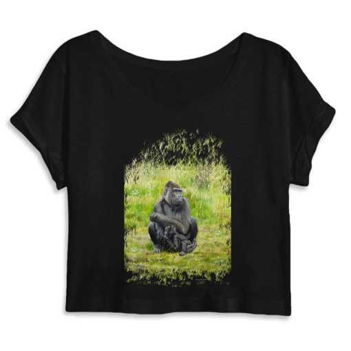 Gorilla's Zonder Mist Dames Organic Crop Top