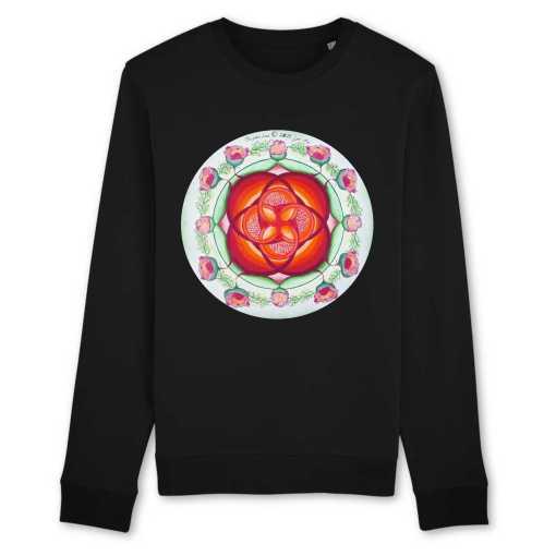 Leven Gedragen Diep In Moederschoot Organisch Unisex-Sweatshirt