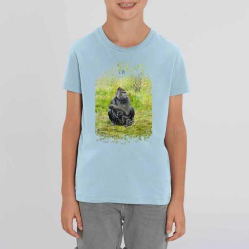 Gorilla's Zonder Mist Kinder T-shirt - 100 % Biologisch Katoen