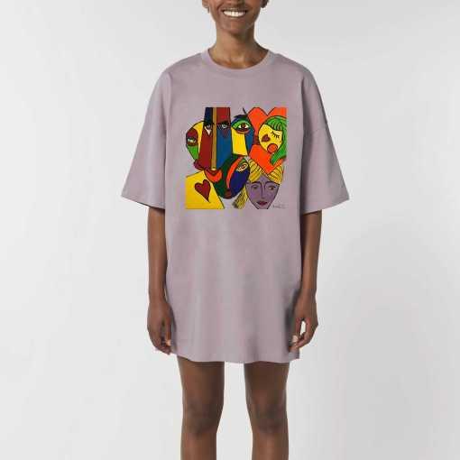 Just Wow Dames Oversized T-Shirt Jurk - Biologisch katoen