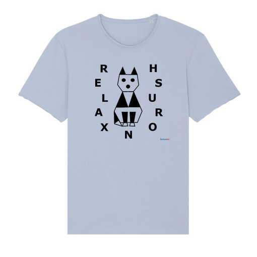 Relaxed Cat Ruwe Rand Unisex T-Shirt - 100% Biologisch Katoen