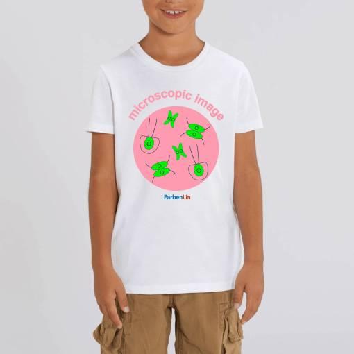 Microscopic Image Kinder T-Shirt - 100 % Biologisch Katoen