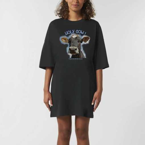 Holy Cow Dames Oversized T-Shirt Jurk - Biologisch Katoen