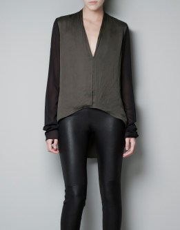 Asymmetrical Silk Blouse