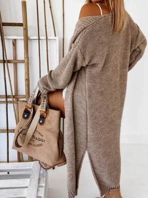 Damen Strickmantel im oversized Look