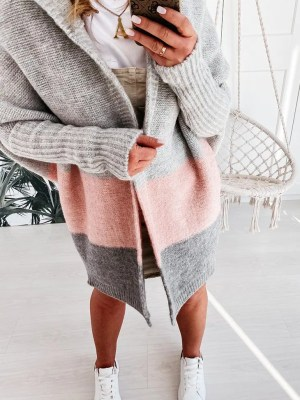 Oversize Strickmantel Strickjacke