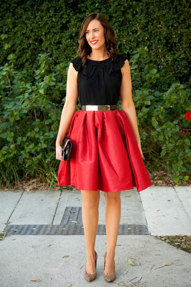 Style Sessions Red Skirt Valentines Day Outfit Or Wear