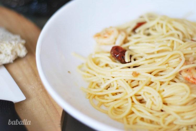 pasta con tomates secos y gambas(1)