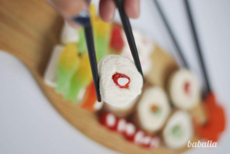 falso sushi para niños baballa