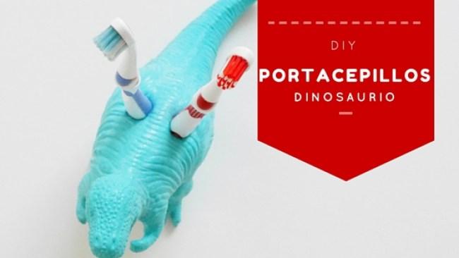 DIY porta cepillos dinosaurio