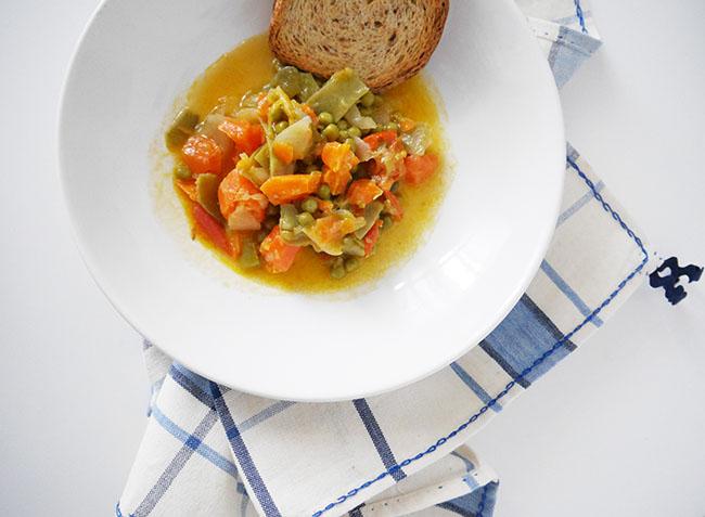 receta menestra de verduras