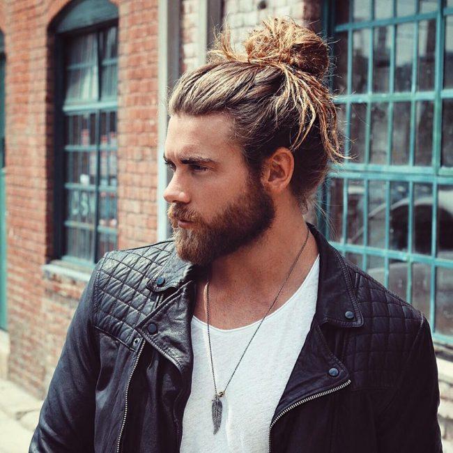 Men Long Hair Ombre Novocom Top