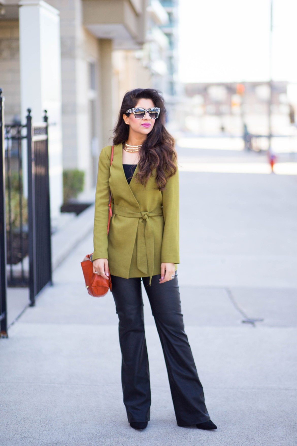 green-blazer-kotton-dubai-leather-pants-wide-leg-burberry-kylie-and-jenner-spring-styling-D&G-2