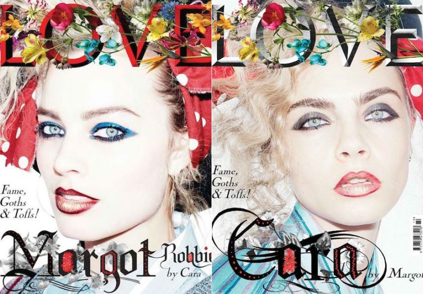 HARLEY QUINN AND ENCHANTRESS ON THE COVER OF LOVE MAGAZINE