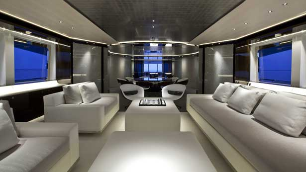 Design And Interior Of Luxury Sailing And Motor Yachts