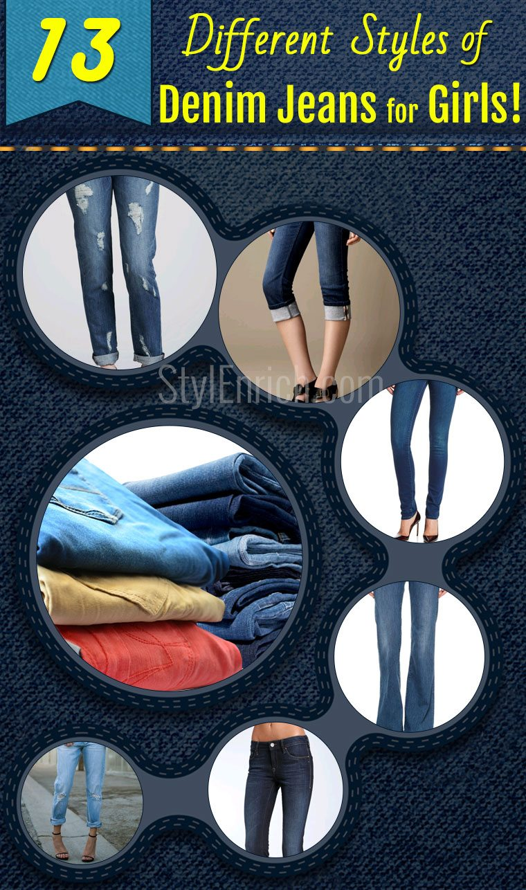 Denim jeans for girls
