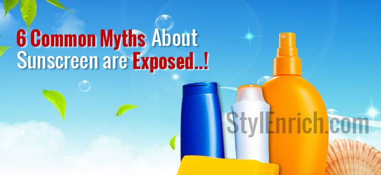 Sunscreen Myths : Common Myths About Sunscreen