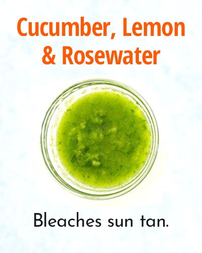 Cucumber, Lemon and Rosewater Face Mask for Summer