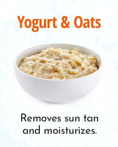 Yogurt and Oats Mask for Removing Sun Tan