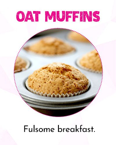 Healthy Oat Muffins for Fulsome Breakfast