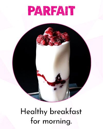 Strawberry and YogurtParfait for Healthy Morning