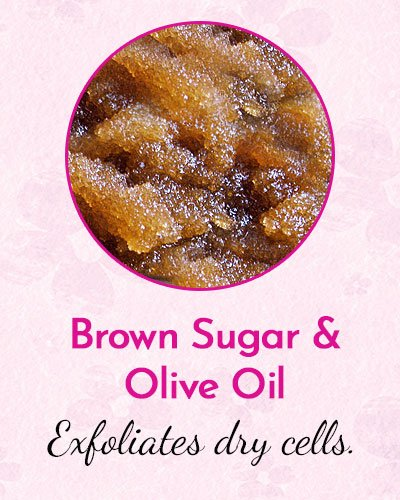 Brown Sugar and Olive Oil Mask for Dry Skin