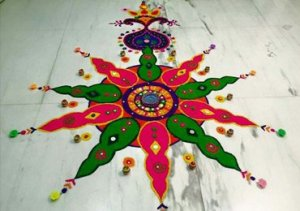 Krishi Rai Featured Rangoli