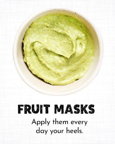 Fruit Masks for Dry Cracked Feet