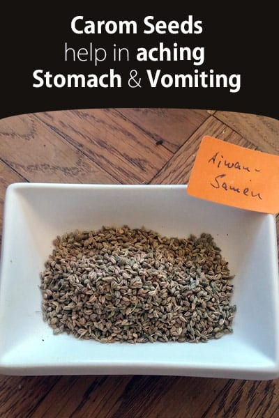 Carom Seeds Help in Aching Stomach and Vomiting