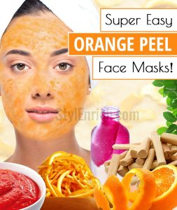 Orange Peel Face Masks