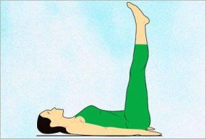 Ardha halasana yoga asana to reduce belly fat