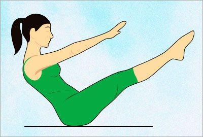 Naukasana yoga asana
