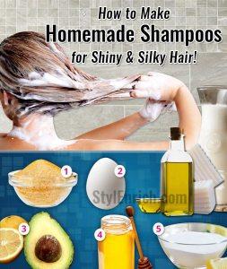 Homemade DIY Shampoos