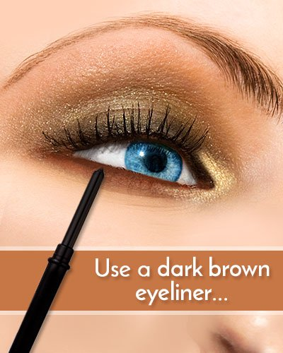 Dark Brown Eyeliner For Blue Eyes