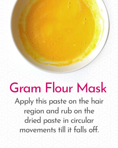 Gram Flour Mask to Remove Hair on Face