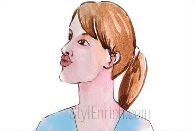 Lips pull to lose weight in face
