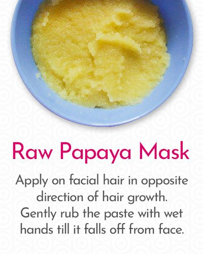 Raw Papaya Mask to Remove Hair on Face
