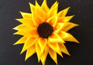 Satin Ribbon Sunflower Accessories for Girls