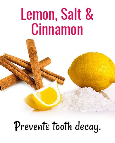 Lemon, Salt & Cinnamon for Shaky Teeth