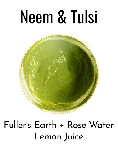 Neem and Tulsi Herbal Face Packs