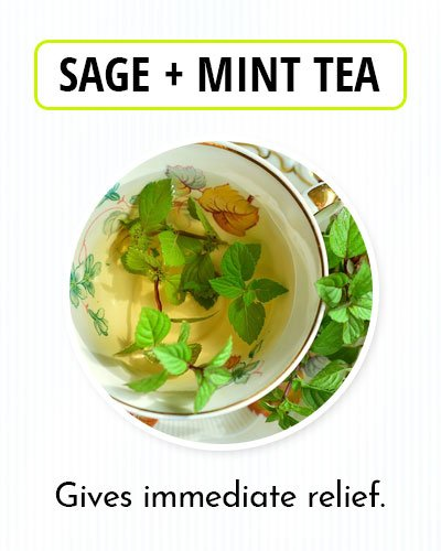 Sage & Mint Tea for Kidney Pain
