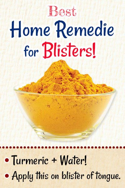 Turmeric For Blisters on Tongue