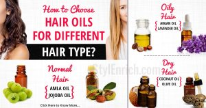 Hair oils for different hair types