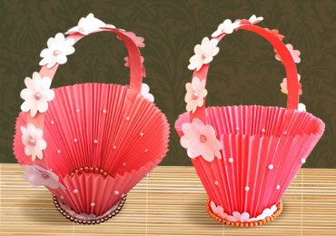 Accordion Paper Basket for Chocolates