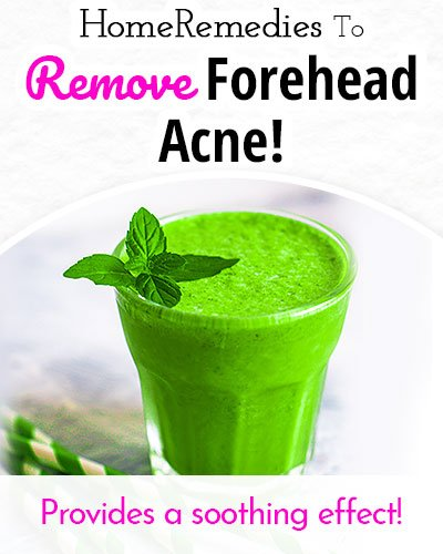 Coriander Juice to Remove Forehead Acne