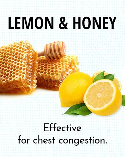 Lemon and Honey for Chest Congestion