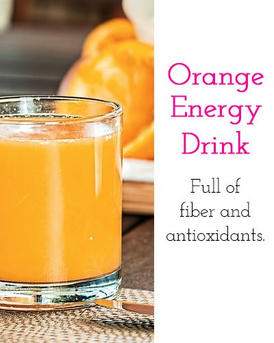 Orange and Coconut Water Energy Drink