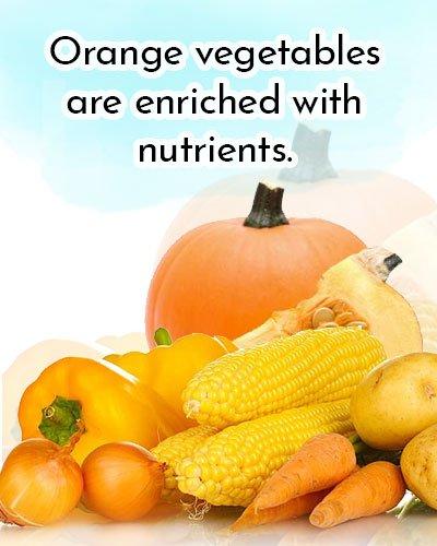 Orange Vegetables and Sweet potatoes for Antioxidants